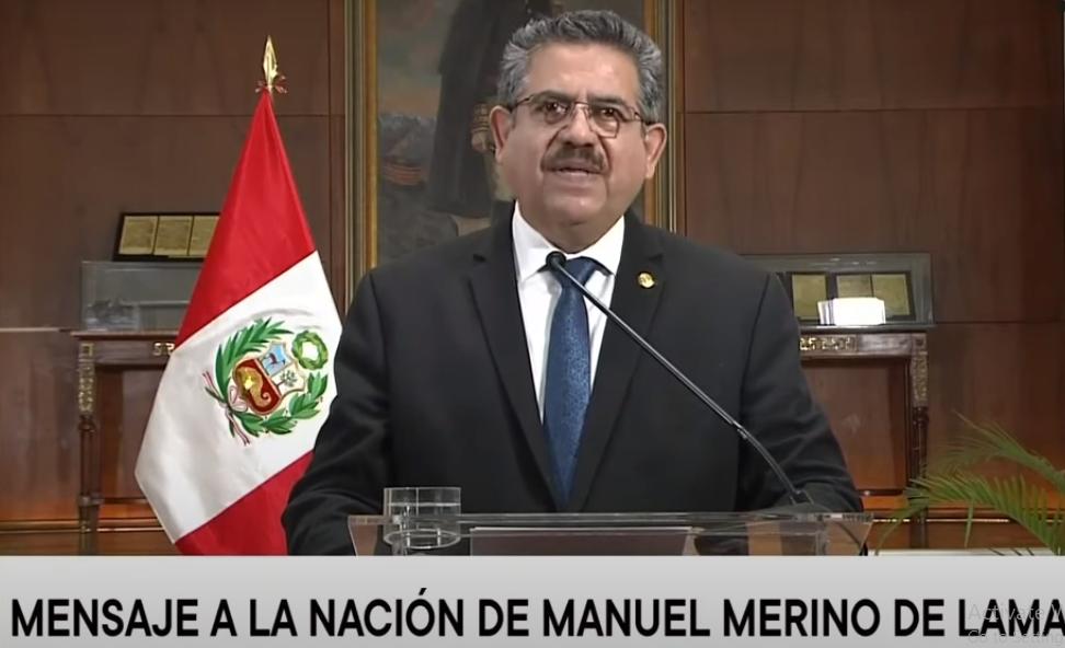 Perú celebra renuncia de Presidente Merino